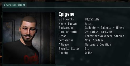 Epigene is in Noir Academy